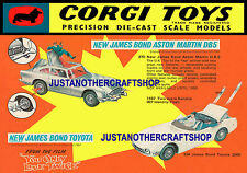 Corgi 270 336 James Bond Aston Martin Toyota Large Poster Advert Sign Leaflet