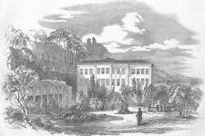 TURKEY. Summer Palace of British Embassy, Therapia, antique print, 1853