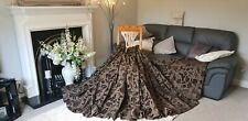 "CUSTOM MADE SUPERB QUALITY FLORAL CHENILLE PENCIL PLEAT CURTAINS 131""X 53"""