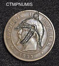 10 CENTIMES NAPOLEON III   SATIRIQUE   1855 BB  STRASBOURG
