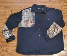 Men's Realtree Camouflage Black Shooter Shirt 2XL 2X-Large 43-26