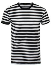 Grindstore Mens White & Black Striped T-shirt XXL