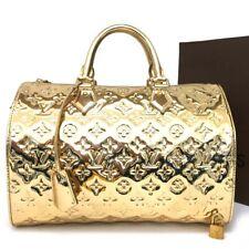 100% Authentic Louis Vuitton Monogram Miroir Speedy 30 Travel Hand Bag /4013