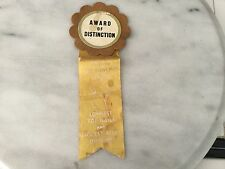 "Vintage humorous funny bowling award ribbon ""Most Fouls"""