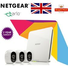 Netgear Arlo VMS3330 Smart Home Wireless CCTV Security System + 3 HD Cameras
