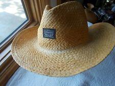12526cce1f0c9 LEVI STRAUSS NWT STRAW WESTERN COWBOY HAT S M PLIABLE BRIM TAGGED  40 LIGHT  GOLD
