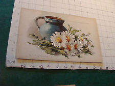 1800's Raphael Tuck STUDY OF MARGUERITES AND EWER by C. Klein Chromolitho