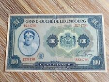 More details for luxembourg 100 francs 1944 large banknote