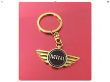 24k Gold Plated MINI Cooper S Sport Key Ring New In Gift Box.