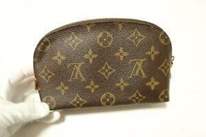 Authentic Louis Vuitton Monogram Pouch Accessories Brown Bag #8067