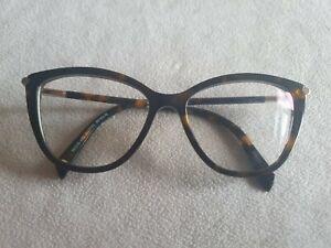 Balmain brown tortoiseshell cat's eye glasses frames. BL1556S.
