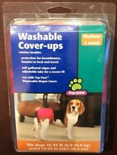 TOP PAW DISPOSABLE WASHABLE COVER UPS FOR DOGS MEDIUM 2 COUNT 15-35LB DOGS, MSC