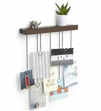 Umbra CASCADE PHOTO DISPLAY Walnut HANGING PHOTO HOLDER & SHELF