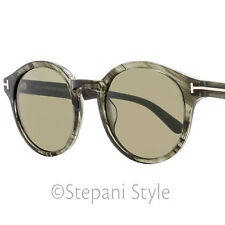 Tom Ford Round Sunglasses TF400 Lucho 20B Transparent Gray FT0400