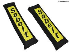 Pair of beltcovers SABELT black 50 mm