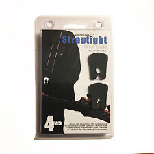 4 STRAPTIGHT Black Guitar Strap Locks Made in the USA Satriani Endorsed