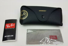 New authentic Ray-Ban chromance black leather case / cleaning cloth