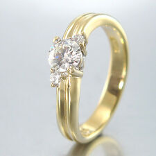 RING mit 3 Brillanten ca. 0,45 ct - RIVER-IF - 18K/750 Gelbgold - 4,9 g - Gr. 54