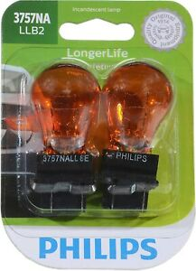 Philips LongerLife Miniature Bulbs Amber Push Type Pack Or 2 - Turn Signal Light