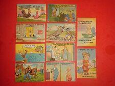 PCG165 Antique Dealer LOT 10 Linen Comic Postcards Phone Booth Soda-Jerker etc