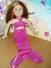 Hot Pink Mermaid Outfit Fits American girl dolls 18 inch Doll Clothes Costume