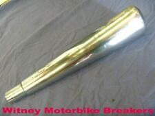 """OVAL MEGAPHONE VINTAGE STYLE EXHAUST SILENCER MUFFLER CAN APPROX 18"""" LONG REF 2"""