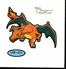 POKEMON STICKER Carte JAPANESE 50X50 TISSU N° CHARIZARD DRACAUFEU (2013)
