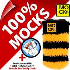 Mocks Duveteux Téléphone Chaussette Housse pour Alcatel Pixi 2 3 (3.5 et 4) Pop Noir