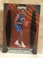 2017-18 PANINI PRIZM RUBY WAVE #215 SINDARIUS THORNWELL RC LOS ANGELES CLIPPERS