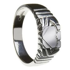 Sterling Silver Contemporary Men's Claddagh Ring 7mm