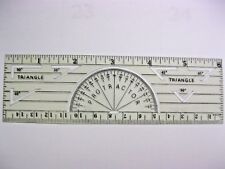 Vintage Plastic Ruler with Protractor and Triangles by E. B. B. & S.