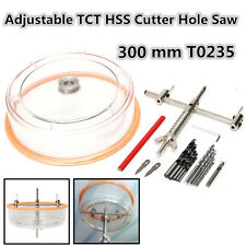 Adjustable Downlight TCT HSS Holesaw Ceiling Wall Cutter Hole Saw 300mm T0235