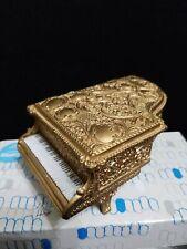 Mini Piano Jewelry Box Gold Color