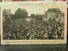 cpa 75 paris exposition des arts decoratifs 1925 pavillon pomone bon marché anim