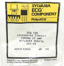 Philips Ecg 715 Integrated Circuit Chroma IF Amp Replaces Zenith 221-43