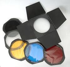 Für Elinchrom Barndoor 18cm 21cm zu Canon Nikon Sony Pentax Leica Hasselblad Neu