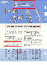 IVES #433MB26D DOOR STOP AND HOLDER, SOLID BRASS, SATIN CHROME-PLATED (US26D)