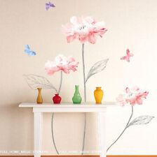 Wall Paper Home Art Deco Sticker Watercolor Flower