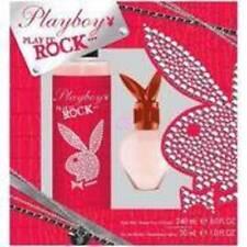 NIB-Womens Playboy Play It Rock EDT 1 oz Perfume & Body Mist Fragrance Gift Set