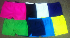 GIRLS/LADIES LYCRA SHINNY HOT PANT SHORTS FOR DANCE/GYMNASTIC/SPORT