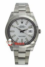 Rolex Datejust II 116300 41mm White Dial with Oyster Band Watch