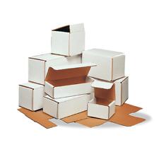 50 Pcs White Corrugated Mailers Many Sizes Shipping Packing Boxes Mailers Box