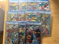 X-force 1-10 Cgc 9.8 Slabbed Job Lot