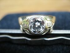 mens large diamond ring vs-2 top wesselton color center stone 1.19 carat.