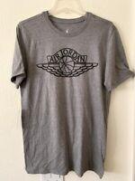 Nike Air Jordan Wings Men's T-Shirt Grey Black BQ1457 091