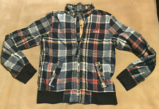 Men's Hollister Jacket 'Tressles' Checked Pattern Size Medium Good Condition