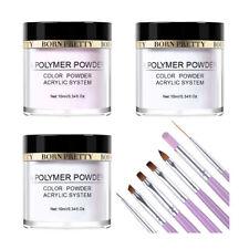 10pcs/set Acrylic Powder Kit Clear Nail Acrylic UV Brushes Kit Manicure DIY Tool