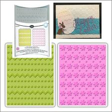 Dots Zig Zags & Flowers Sizzix embossing folders 658846 Cuttlebug Compatible