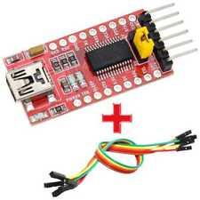 Módulo FT232RL FTDI Mini USB a TTL Conversor Serial 3,3-5V Pro+Cable Electróni