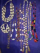 Vintage Lot Glass Beaded Murano Venetian & Other Necklaces & Bracelet